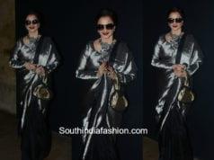 Rekha in a kanjeevaram saree for Padmaavat Movie Screening