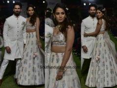 Shahid Kapoor and Mira Kapoor in Anita Dongre at Lakme Fashion Week 2018 (2)