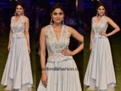 Shamita Shetty in Anita Dongre at Lakme Fashion Week 2018