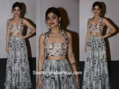 Shamita Shetty in Payal Singhal at Lakme Fashion Week 2018