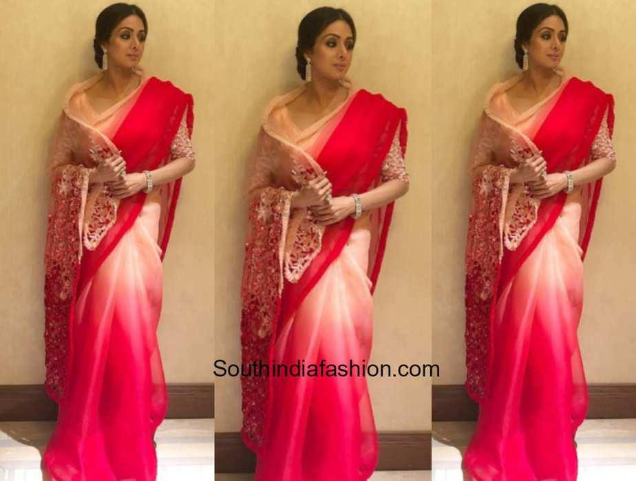 Sridevi Kapoor in Manish Malhotra at a wedding event