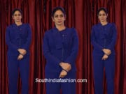 Sridevi Kapoor in a blue suit for CWC School Annual Day Event