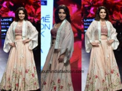 Tisca Chopra in Vineet Rahul at Lakme Fashion Week 2018