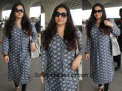 Vidya Balan in Global Desi at the airport