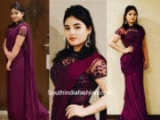 Zaira Wasim in Zephyrr Pre Draped Saree for Secret Superstar Premiere in China