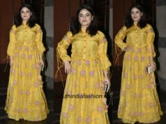 Zaira Wasim in a yellow gown at Secret Superstar Success Bash 1