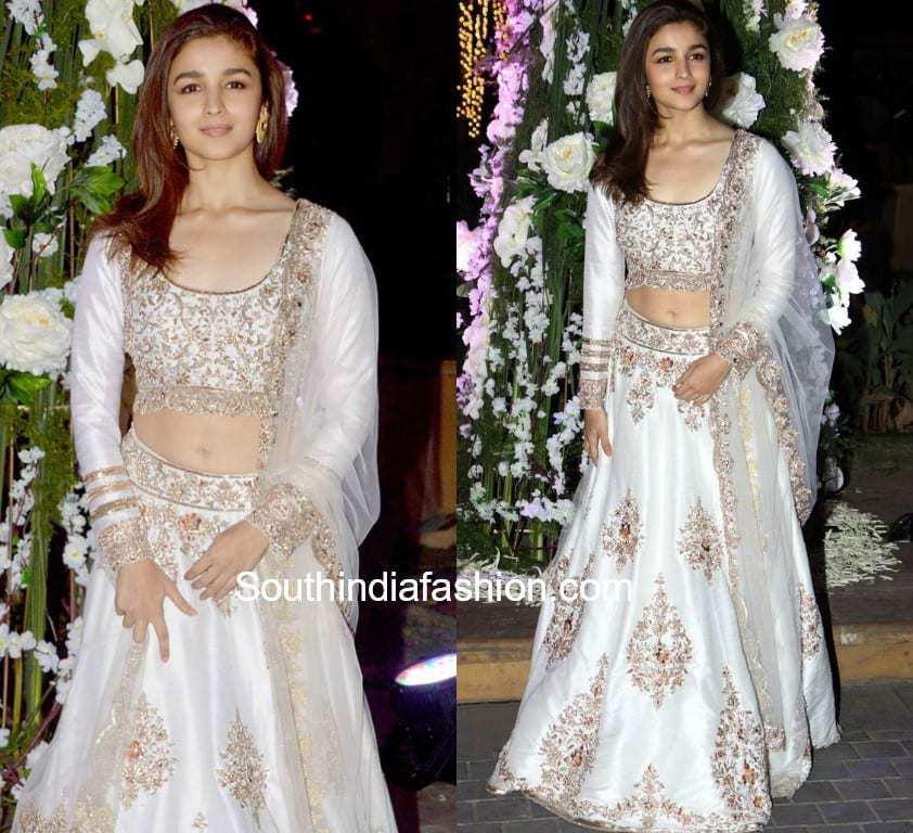 alia bhatt in white chaniya choli
