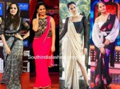 anchor anasuya modern sarees 2018
