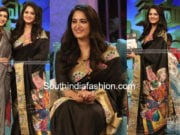 anushka shetty in black saree memu saitham tv show