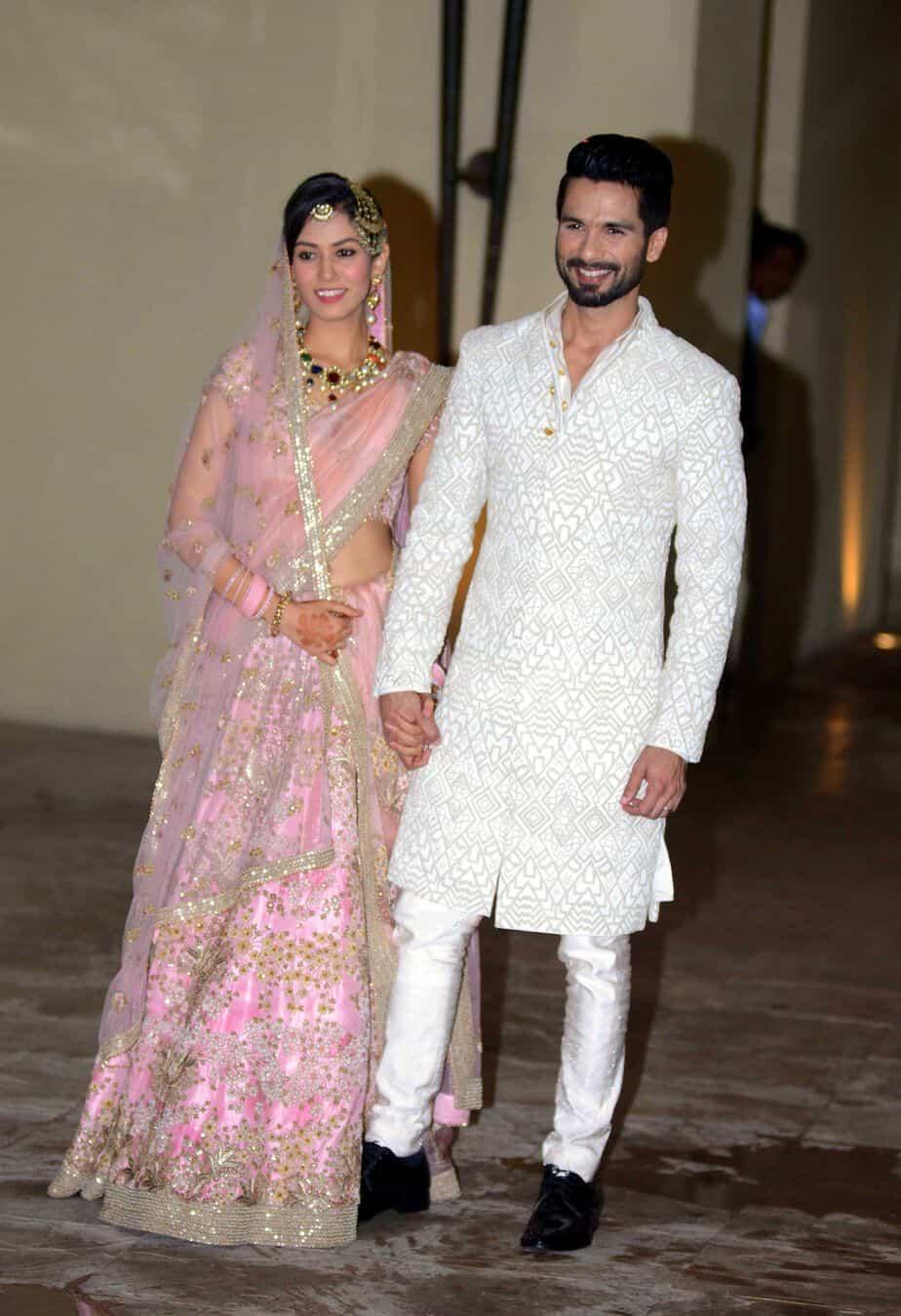 shahid mira wedding
