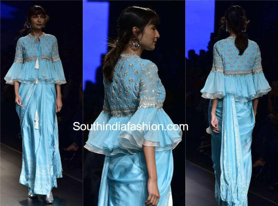 saree with peplum jacket
