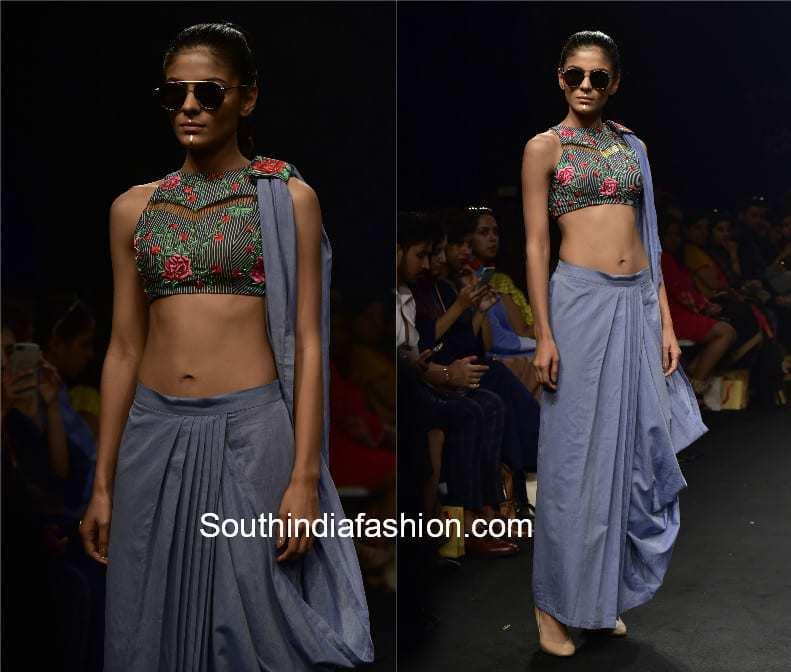 denim sarees lakme fashion week
