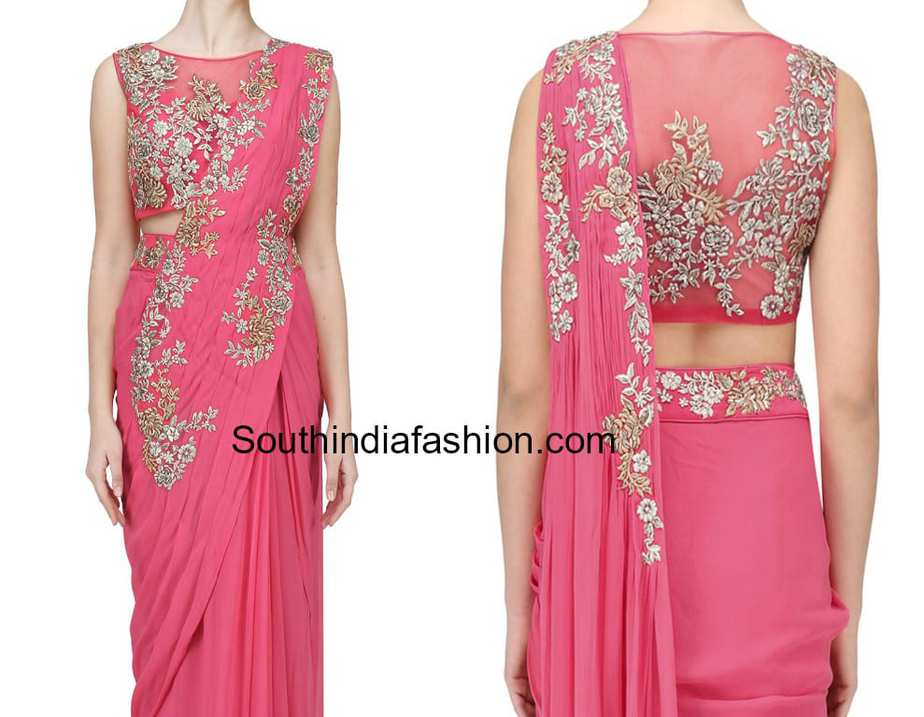 Embroidered Designer Blouse Ideas For Plain Sarees
