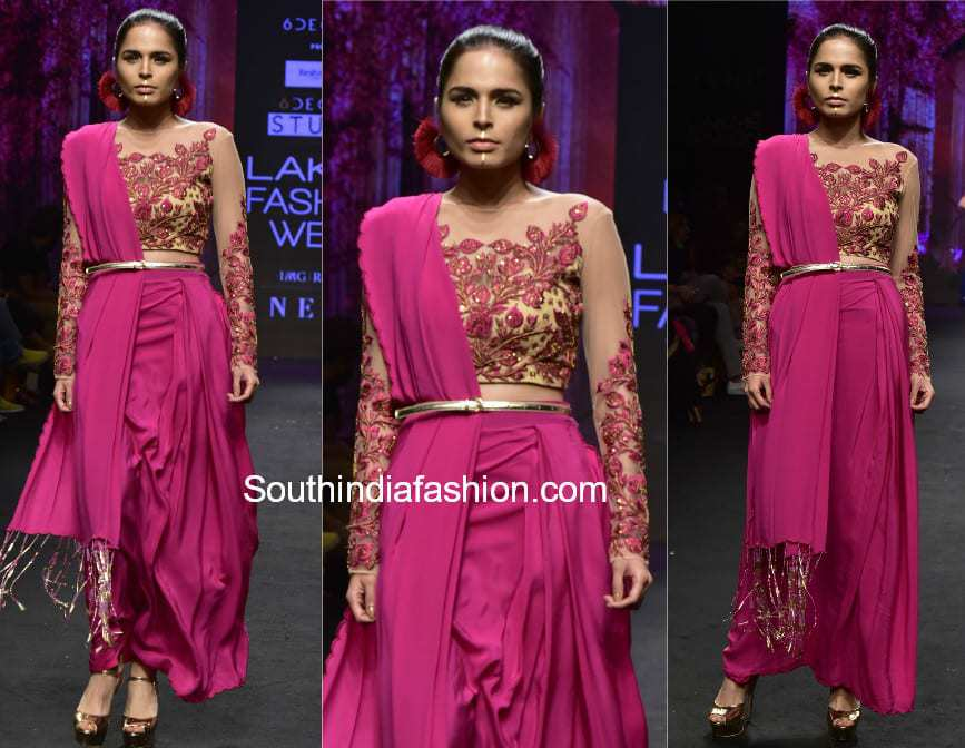 different style pallu drape