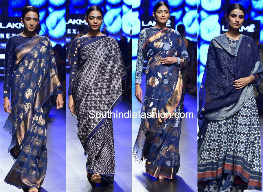 gaurang sarees lakme fashion week 2018