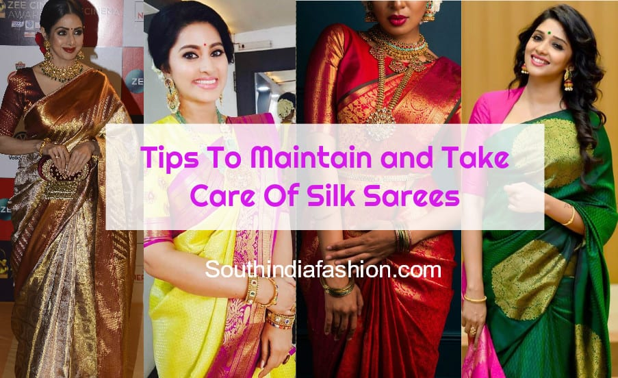 how to maintain and preserve silk sarees