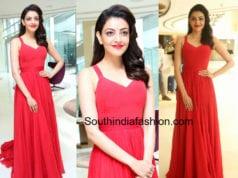 kajal aggarwal red dress
