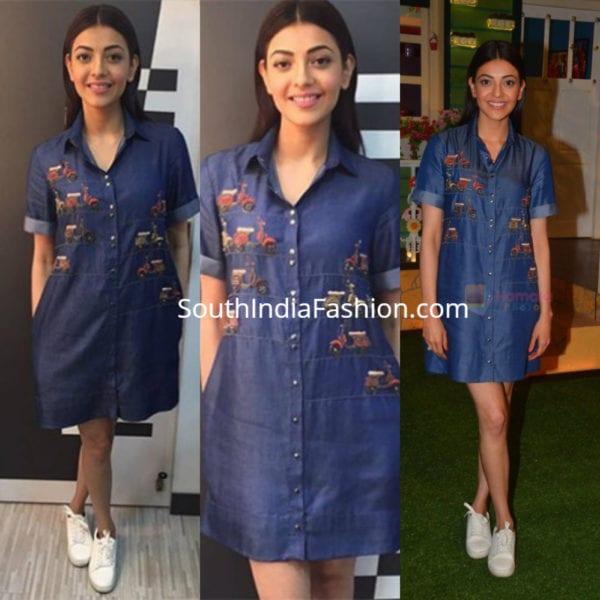 kajal-agarwal-blue-dress