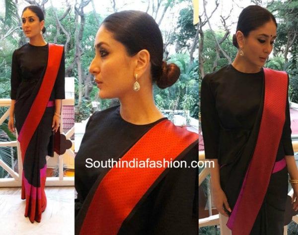 kareena kapoor black saree bangalore