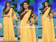 lakshmi manchu yellow saree memu saitham