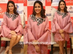 lavanya tripathi peach dress intelligent song launch