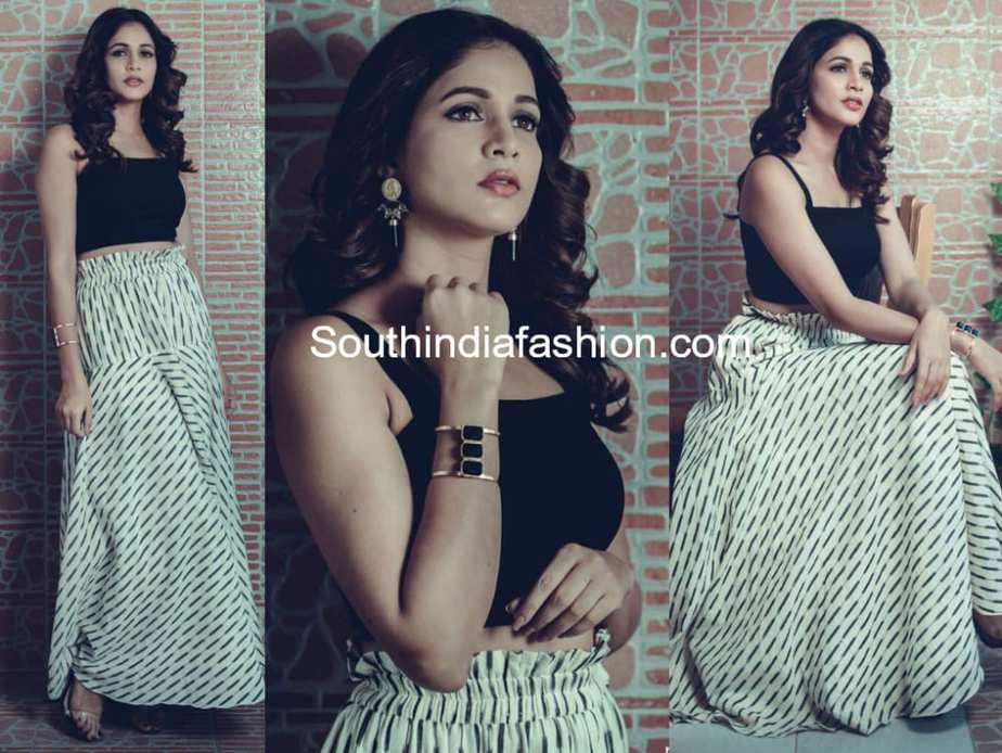 lavanya tripathi long skirt crop top