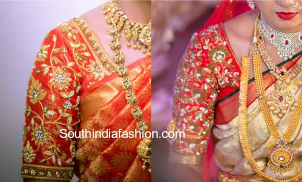 maggam work blouse designs for pattu sarees