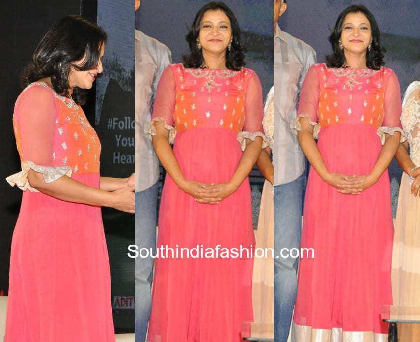 manjula ghattamaneni pink dress