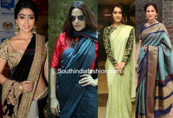 different pallu draping styles