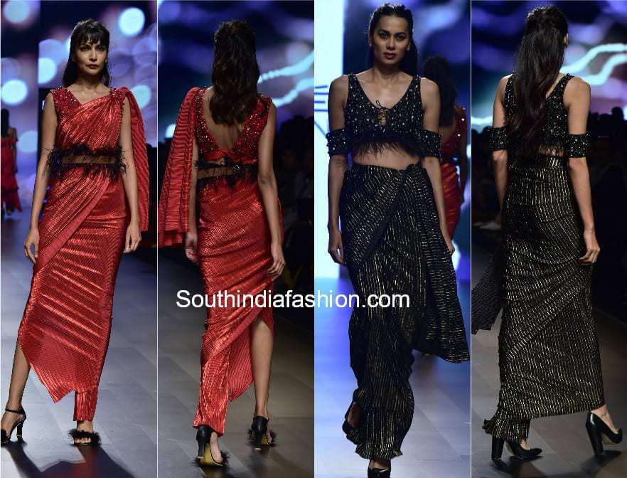 fusion sarees lakme fashion week