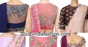 designer blouses for plain sarees