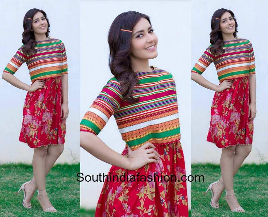 raashi khanna red dress