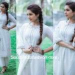 Raashi Khanna in a white palazzo suit