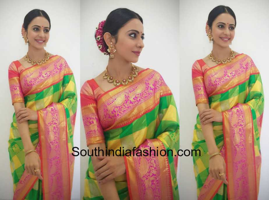 rakul preet singh in pattu saree