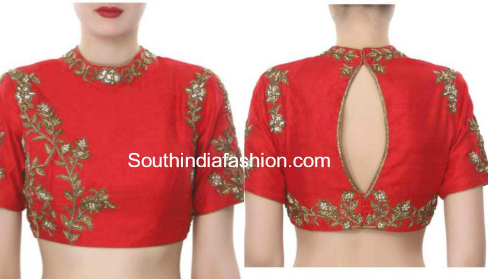bccb58e3 Readymade Embroidered Designer Blouses - Shop Online! – South India ...