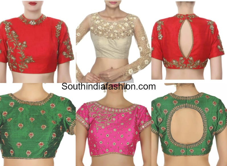 Readymade Embroidered Designer Blouses - Shop Online! U2013South India Fashion