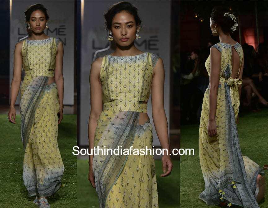 anita dongre sarees lakme fashion week
