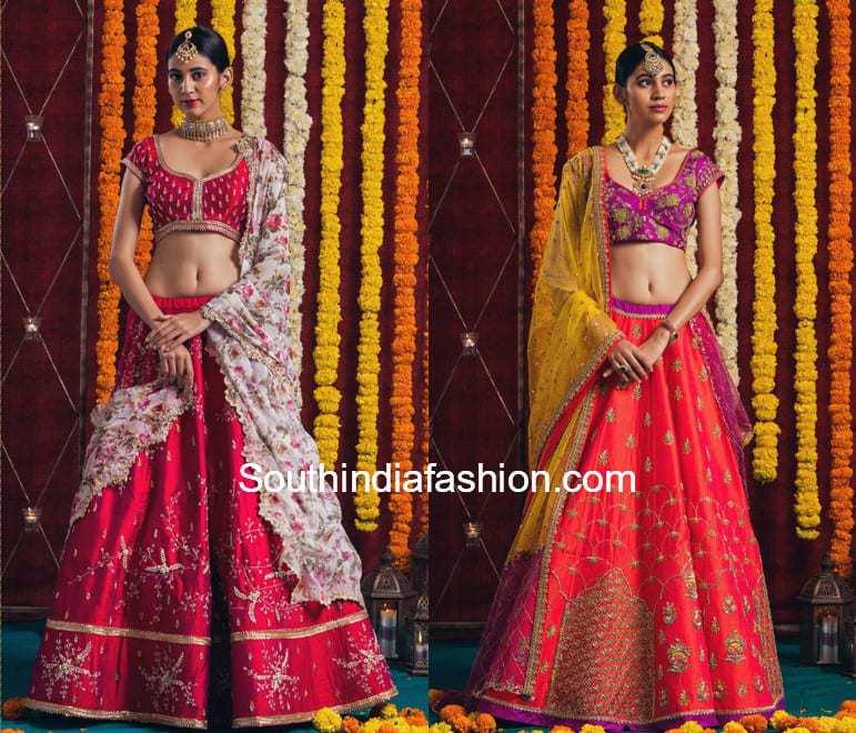 designer half sarees by issa studio