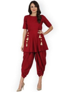 dhoti pants peplum top
