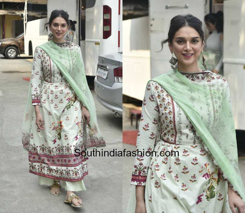 Aditi Rao Hydari in a palazzo suit by Varsha Fashion at the summer collection launch