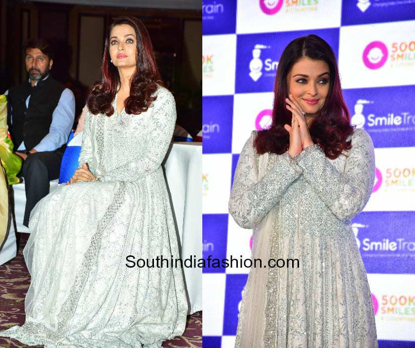 Aishwarya Rai in Manish Malhotra at Smile Train charity event