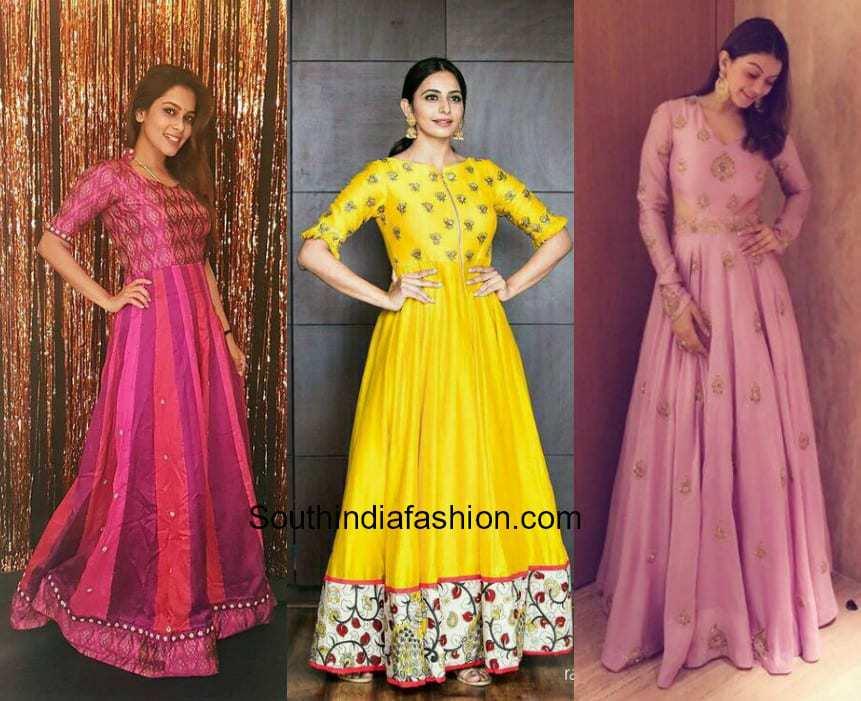 long Anarkali Gown