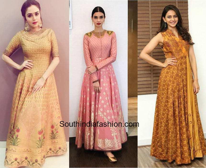 floor length Anarkali Gowns