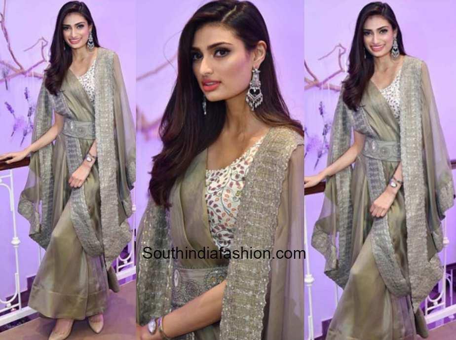 Athiya Shetty in Anamika Khanna at Aza Fashions Store Launch
