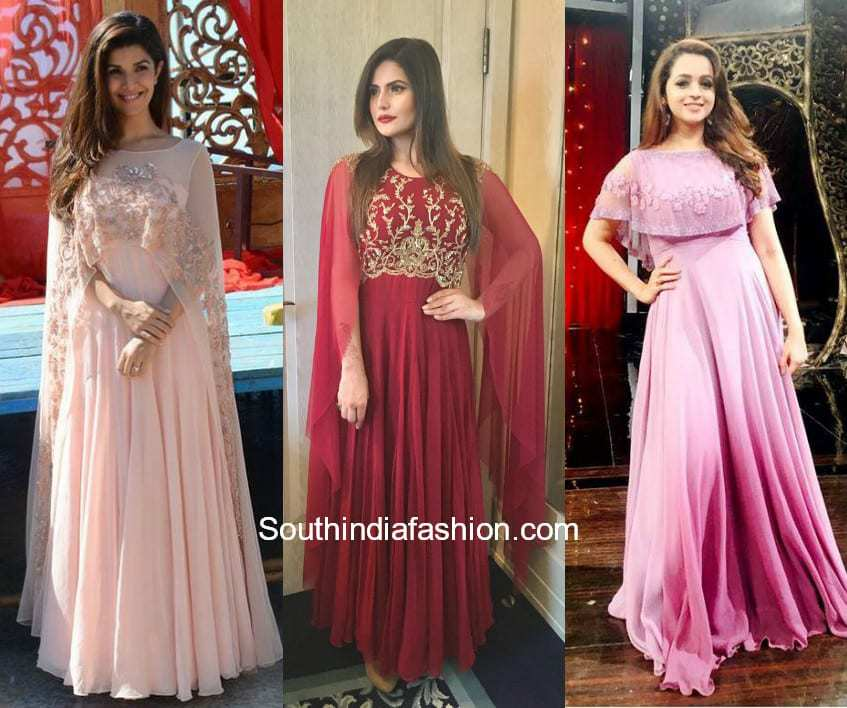 Cape Gowns Sangeet Outfits
