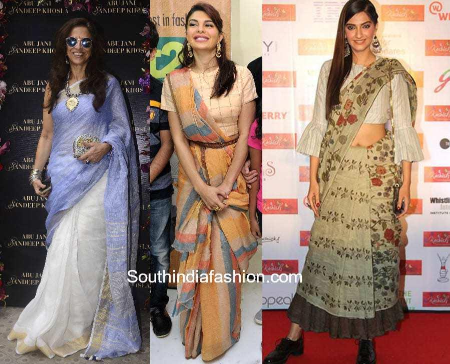 Celebrities in Cotton Sarees