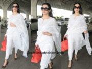 Divya Khosla Kumar in House of Kotwara at the airport