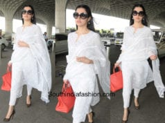 Divya Khosla Kumar in House of Kotwara at the airport