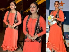Huma Qureshi in an orange gown for Ficci Frames Opening