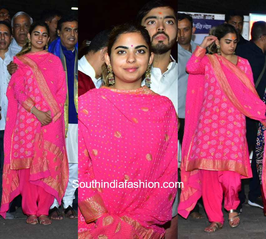 Ishaa Ambani at Siddhivinayalk Temple